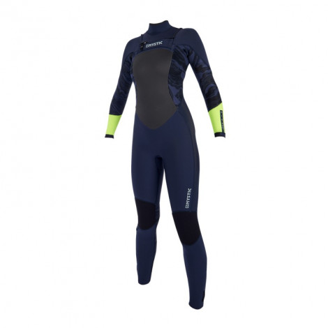Mystic Diva 3/2 Double Frontzip Navy/Lime wetsuit 2019