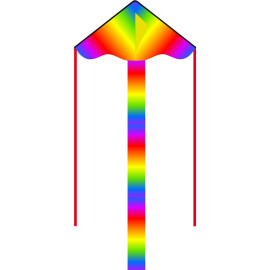 HQ Eco Line Simple Flyer Radiant Rainbow 85cm